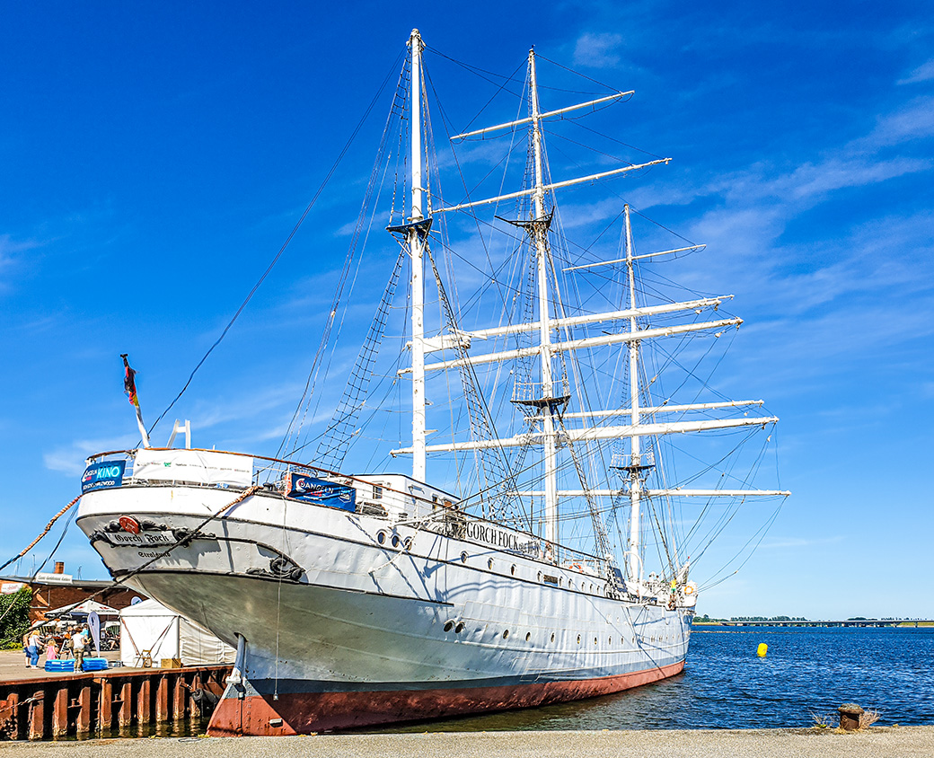 Die Gorch Fock I. in Stralsund